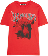 McQ Printed Cotton-jersey T-shirt - Red