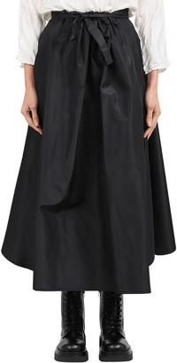 Daniela Gregis Black Ruffa Skirt