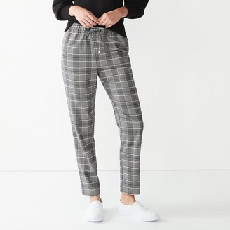 Nine West Women's Belted Tapered-Leg Pull-On Pants