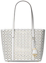 MICHAEL Michael Kors Floral Perforated Saffiano Leather Tote