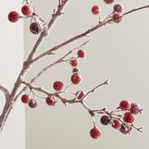 Crate & Barrel Icy Red Berry Stem Branch
