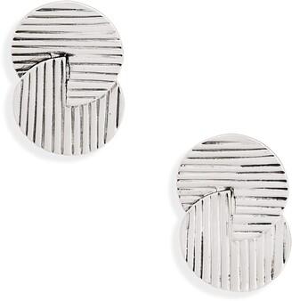 Karine Sultan Retro Circle Clip Earrings