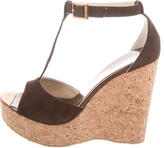 Jimmy Choo T-Strap Platform Wedges