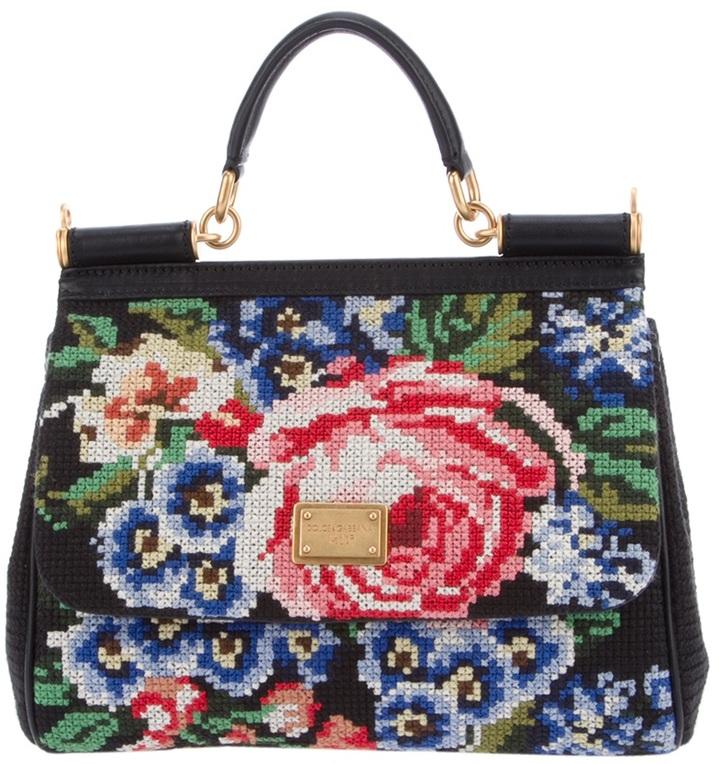 Dolce & Gabbana embroidered shoulder bag