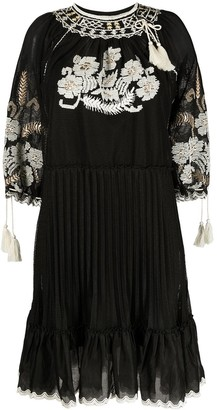 RED Valentino Floral Embroidered Mesh Dress