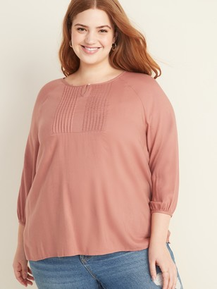 Old Navy Plus-Size Pintuck Blouse