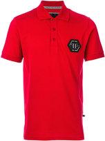 Philipp Plein logo plaque polo shirt - men - Cotton - M