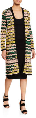 M Missoni Long Space-Dyed Cardigan