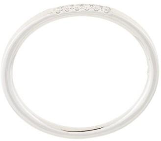 Natalie Marie 14kt white gold Six Stone Diamond Queenie ring