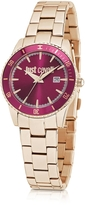Just Cavalli Just In Time Rose Gold Tone Stainless Steel Women's Watches w/Pink Dial