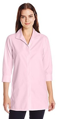 Foxcroft Women's Plus Size 3/4 Sleeve Skye Essential Non Iron Tunic