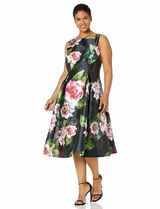 Adrianna Papell Women's Sleeveless Floral Dress