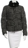 Moncler Corbeille Fur-Trimmed Puffer Coat