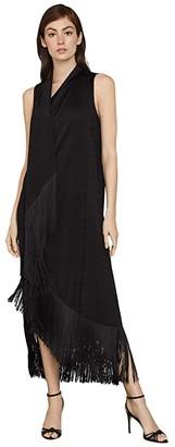 BCBGMAXAZRIA Knit Fringe Dress (Black) Women's Clothing