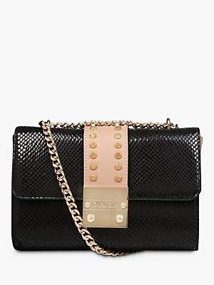 Carvela Kensington Chain Strap Cross Body Bag, Black