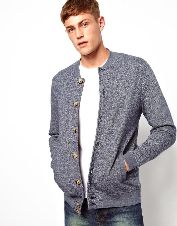 Asos Bomber In Textured Fabric