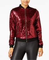The Edit by Seventeen Juniors' Sequined Bomber Jacket
