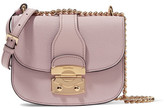 Miu Miu Leather Shoulder Bag - Lilac