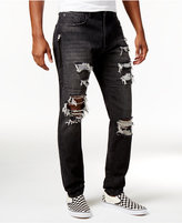 Jaywalker Men's Side-Zip Ripped Jeans, Only at Macy's