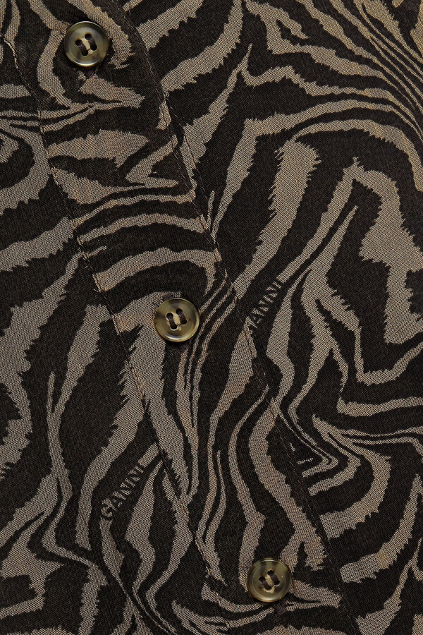 Thumbnail for your product : Ganni Tiger-print Georgette Maxi Skirt