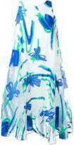 P.A.R.O.S.H. floral jacquard dress - women - Silk/Cotton/Polyamide/Polyester - M