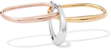 Charlotte Chesnais Faust Silver, Gold And Rose Gold Vermeil Ring