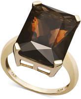 Macy's 14k Gold Ring, Smokey Quartz (9-1/2 ct. t.w.)