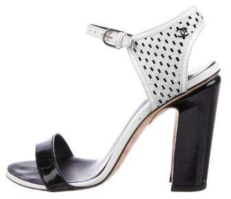 Chanel Patent Leather CC Sandals