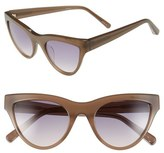Elizabeth and James Women's 'Clarkson' 52Mm Sunglasses - Milky Grey/ Smoke Brown Lens