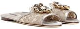 Dolce & Gabbana Bianca Embellished Slip-on Sandals
