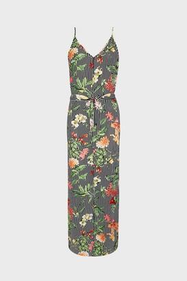 Coast Stripe & Floral Strappy Tie Waist Maxi Dress