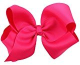 Toddlers Hair Clips,ABCsell Children's Multicolor Hair Clip Butterfly Knot Hairpin Bow Alligator Clips for Toddler Baby Girls Kids (Hot Pink)