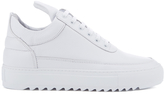 Filling Pieces Women's Thick Ripple Low Top Trainers White
