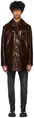 Acne Studios Brown Patent Leather Jacket