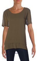 MICHAEL Michael Kors Womens Layered Cut-Out Blouse