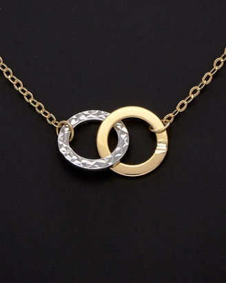 Italian Gold 14K Two-Tone Necklace