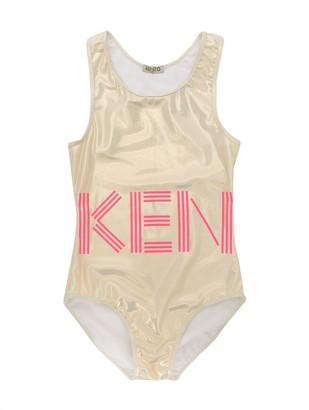 Kenzo TEEN logo print swimsuit