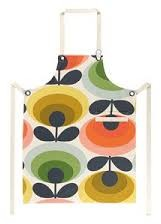 Orla Kiely 70's Flowers Apron - Red/Yellow/Green
