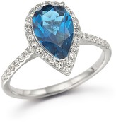 Bloomingdale's London Blue Topaz and Diamond Ring in 14K White Gold