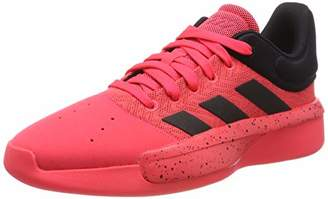adidas Men's Pro Adversary Low 2019 Basketball Shoes, Red (Shock Red/Core Black), (44 2/3 EU)
