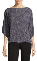 Michael Kors Leopard-Print Silk Top