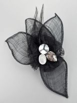 New York & Co. Lace, Beads & Feather Mesh Pin
