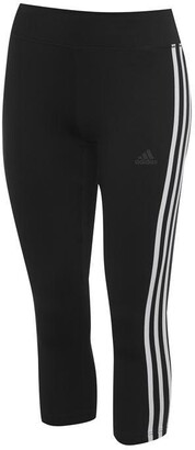 adidas 3 Stripe Three Quarter Tights Ladies