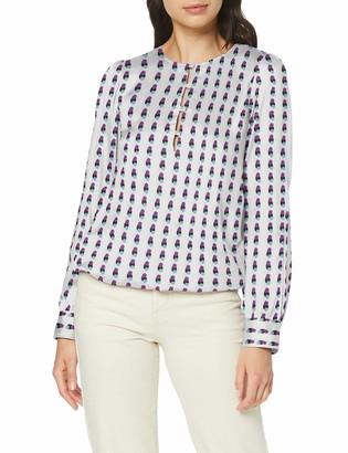 Seidensticker Shirtbluse Langarm modern fit Satin Blumendruck - 100% Viskose womens Regular Fit Blouse