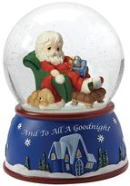 "Precious Moments And To All A Goodnight"" Musical Santa Christmas Snow Globe"