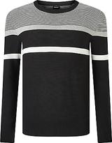 Diesel K-kat Stripe Jumper, Black