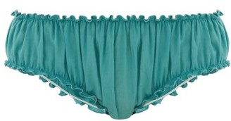 Loup Charmant Bloomer Organic-cotton Briefs - Womens - Blue