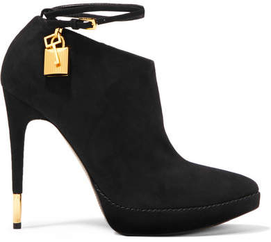 Tom Ford Suede Ankle Boots - Black