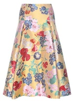 Valentino Jacquard silk-blend skirt