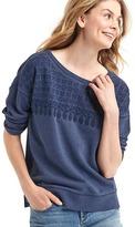 Gap Embroidered yoke sweatshirt